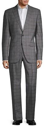 HUGO BOSS Guabello Regular-Fit Windowpane Wool Suit