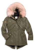 SAM. Girl's Hudson Fur-Trim Parka