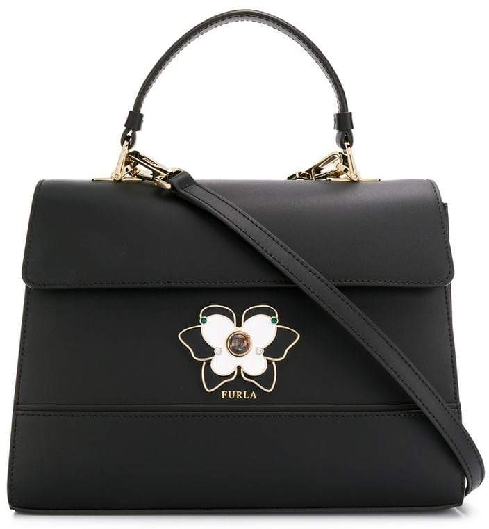 Furla butterfly plaque tote bag