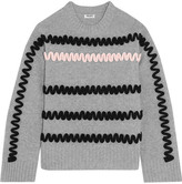 Kenzo Appliquéd Wool Sweater - Light gray