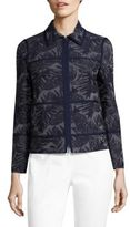 Lafayette 148 New York Adaya Palm-Print Jacket