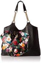 Del Mano Shoulder Tote with Floral Bow Shoulder Bag