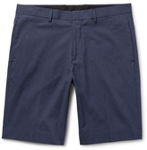 Theory - Beck Micro-checked Cotton-blend Shorts