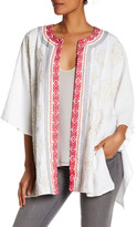 Johnny Was Embroidered Linen Poncho
