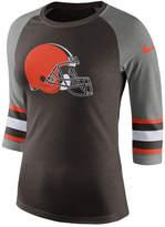 Nike Women's Cleveland Browns Stripe Raglan Triblend T-Shirt