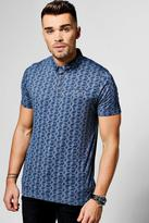 Boohoo All Over Print Polo T-Shirt