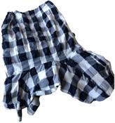 Bassike Blue Cotton Skirt for Women