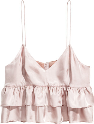 H&M Short tiered strappy top