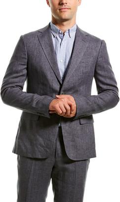 Ermenegildo Zegna Linen Suit With Flat Front Pant