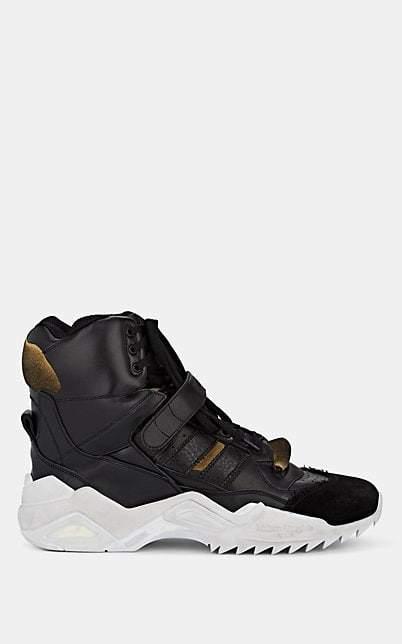 Maison Margiela Men's Retro Fit Leather Sneakers - Black