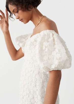 And other stories Balloon Sleeve Lace Mini Dress