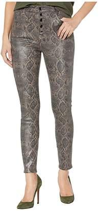 J Brand Lillie High-Rise Crop Skinny in Coated Boa (Coated Boa) Women's Jeans