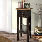 Laurèl Tompkins Narrow End Table with Storage Foundry Modern Farmhouse Color: Antique Black