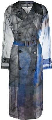 Maison Margiela Tie-Dye Print Trench Coat