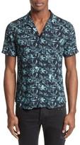 The Kooples Men's Hawaiian Collar Print Shirt
