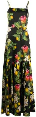 Borgo de Nor Cordelia square-neck maxi dress