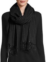 Rag & Bone Brushed Pinstripe Scarf, Black