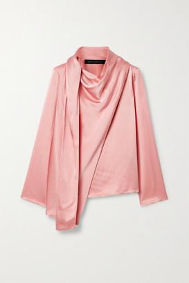 Sally LaPointe Draped Satin-crepe Top - Blush
