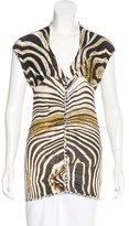 Just Cavalli Abstract Print Sleeveless Top