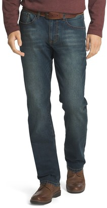 Izod Men's Comfort-Stretch Straight Fit Jeans