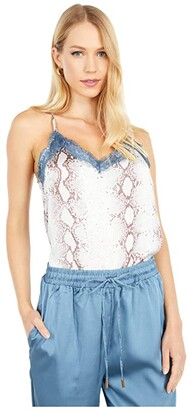 Bishop + Young Lace Detail Cami (Rain Python) Women's Clothing