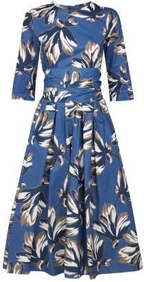 Max Mara Cotton Floral Midi Dress