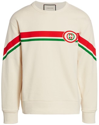 Gucci Short-Sleeve Felted Cotton Jersey Sweatshirt