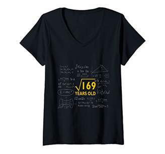 Womens Square Root 169 13 Years Old Gift V-Neck T-Shirt