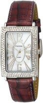 Pedre Women's 7715SX Silver-Tone with Icy Purple Leather Strap Watch