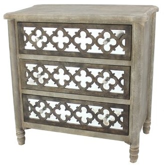 Bungalow Rose Richon 3 Drawer Mirrored Accent Chest