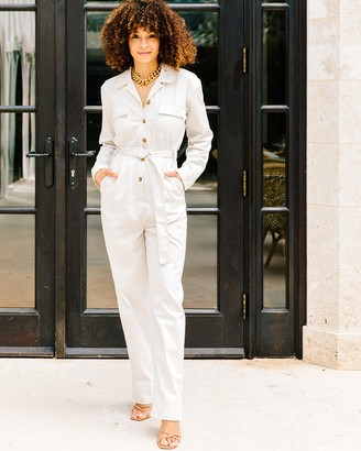 The Drop Women's Ivory Utility Jumpsuit by @scoutthecity S