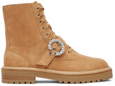 Thumbnail for your product : Jimmy Choo Tan Cora Crystal Combat Boots