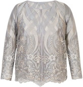 Chesca Scallop Edge Embroidered Mesh Jacket