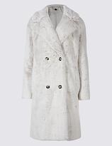 Per Una Double Breasted Faux Fur Coat