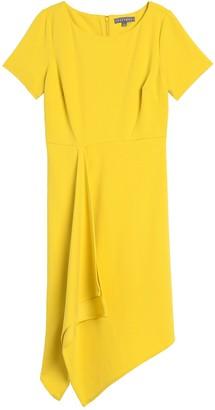 Sharagano Short Sleeve Asymmetrical Dress