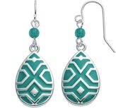 Chaps Beaded Geometric Teardrop Earrings