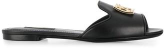 Dolce & Gabbana Logo Slider Sandals