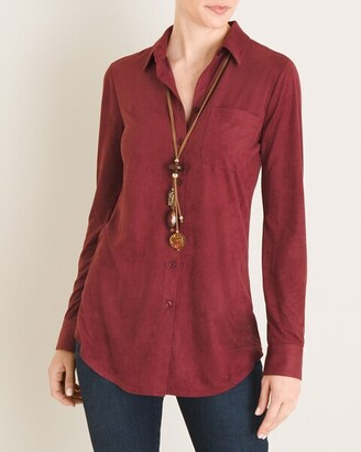Chico's Everyday Faux-Suede Button-Front Shirt