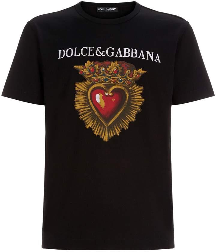 Dolce & Gabbana Cotton Heart T-Shirt