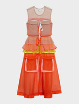 DKNY Runway Sleeveless Mesh Dress