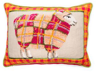 Mackenzie Childs Tartan Sheep Pillow