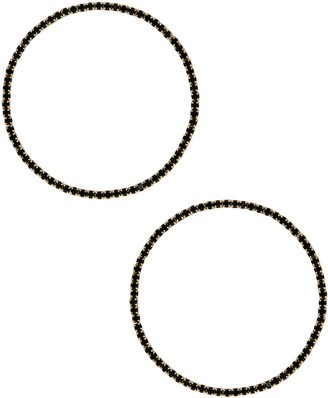 Ettika Large Crystal Hoop Earrings