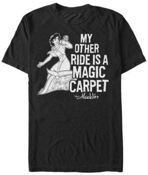 Disney Princess Disney Men's Aladdin My Other Ride Short Sleeve T-Shirt