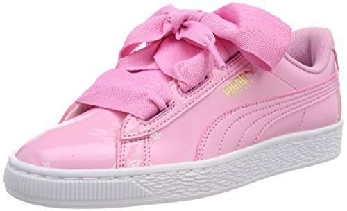 super popular 85ee2 39e5b Unisex Kids' Basket Heart Patent Jr Low-Top Sneakers, Black-Prism Pink-Gold  White