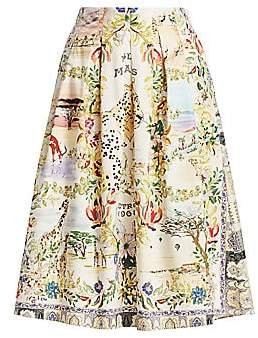 Etro Women's Safari Print Pleated Midi Skirt