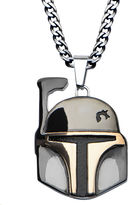 Star Wars FINE JEWELRY Boba Fett Mens Two-Tone Stainless Steel Pendant Necklace