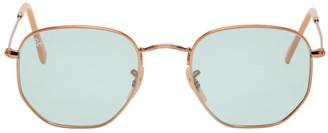 Ray-Ban Bronze and Blue Hexagonal Evolve Sunglasses