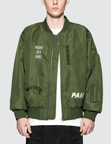 Perks And Mini Hard Synth Embroidered MA-1 Bomber Jacket