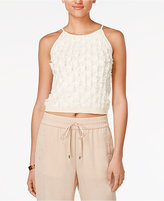 Bar III Sleeveless Fringe Top, Only at Macy's
