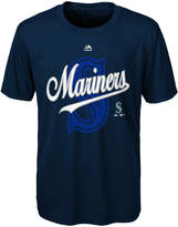 Majestic Seattle Mariners The Game Poly T-Shirt, Big Boys (8-20)